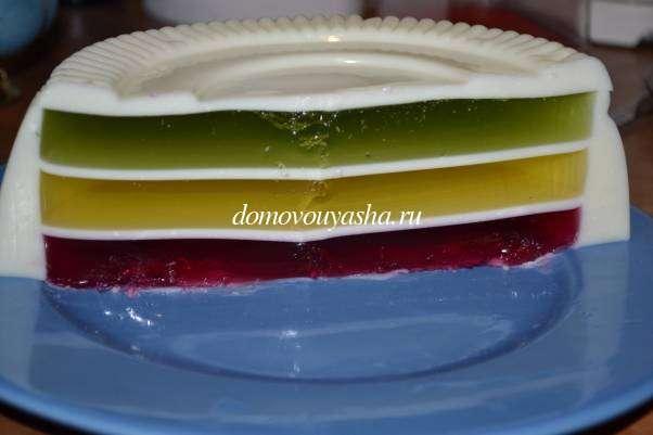 Рецепт сметанника с желе