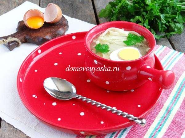 Домашняя яичная лапша рецепт с фото