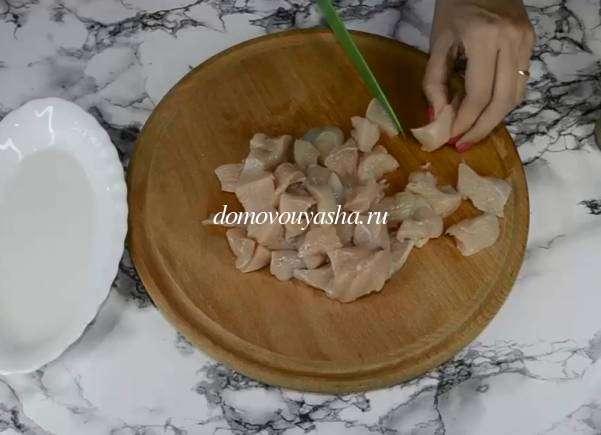 Запеканка из цветной капусты с курицей