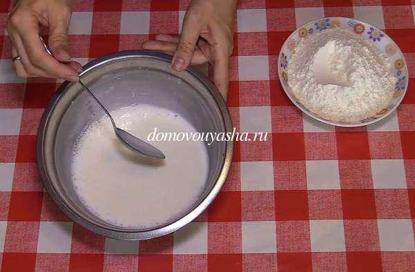 Тесто для хачапури на кефире - рецепт