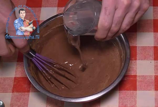 Блины с какао порошком