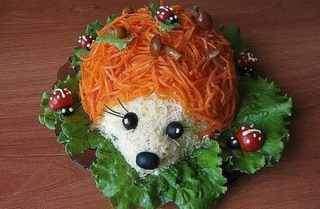 Как приготовить салат Ежик