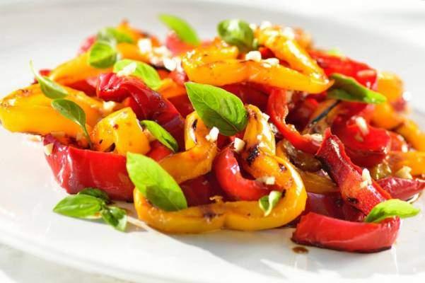 Рецепт приготовления салата из перца на гриле