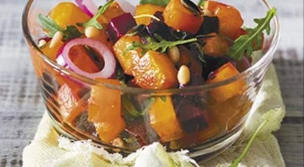 Королевский салат с тыквой