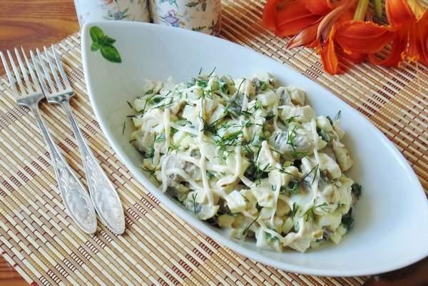 Рецепты салатов из куриной грудки с грибами