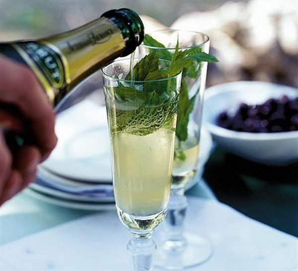 Мохито с шампанским