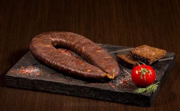 Суджук из лосиного мяса