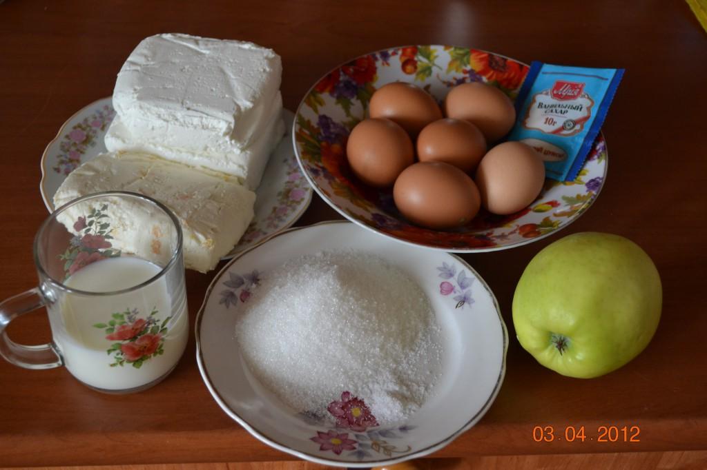 Творожная запеканка с яблоками рецепт с фото
