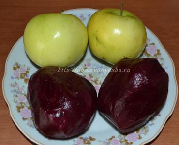 Селедка под шубой с яблоком