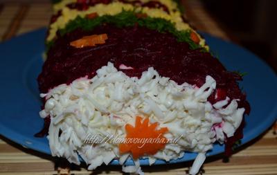 Салат из отварного мяса курицы