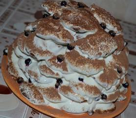 торт осенние листья на сковороде рецепт