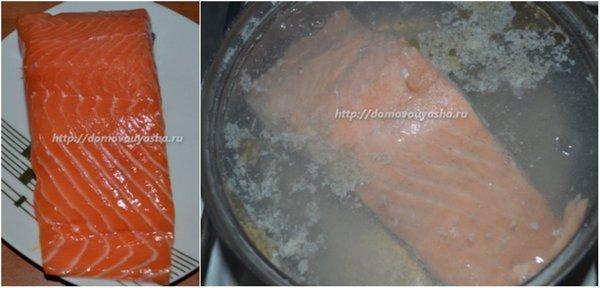 Соленая красная рыба, пошаговый рецепт с фото