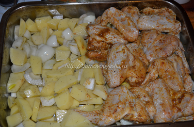 приготовить куриные крылышки в духовке.