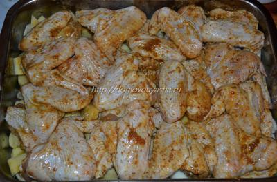 Как вкусно приготовить куриные крылышки в духовке.