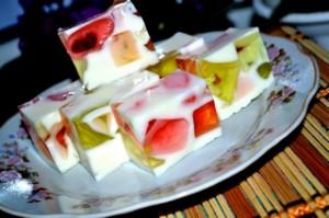 Желейный торт битое стекло рецепт с фото