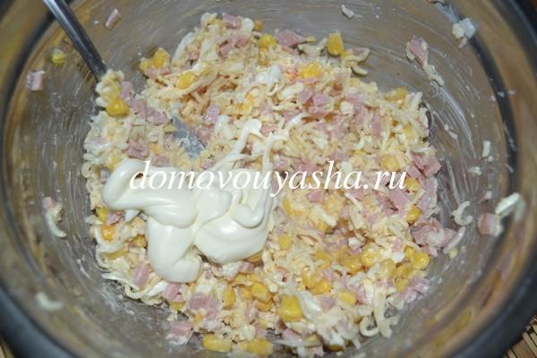 салат с мивиной рецепт с фото вкусный