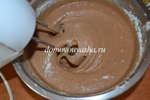 Шоколадный манник на сметане с фото