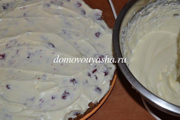 Бисквитный торт с вишней фото рецепт.