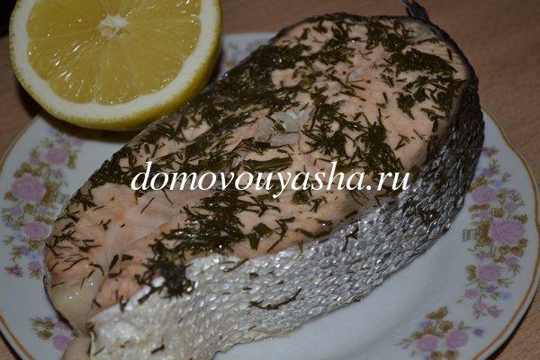 рецепт приготовления красной рыбы в духовке в фольге