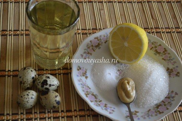 майонез из перепелиных яиц ингредиенты