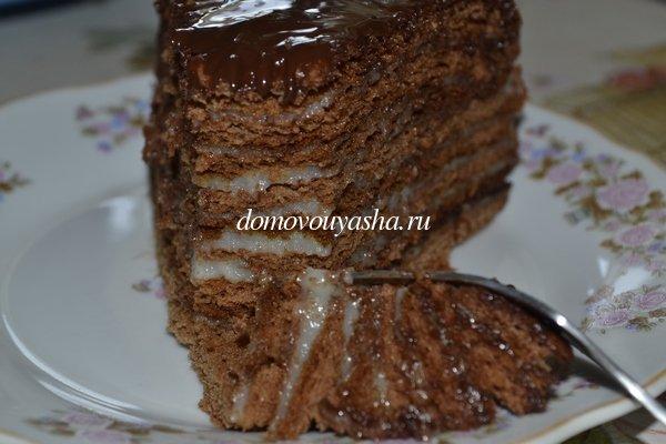 шоколадный медовик дамский каприз