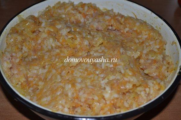фаршированный перец куриным фаршем и рисом