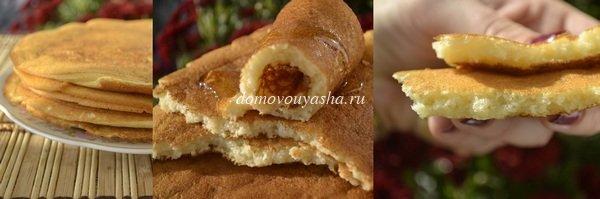 Блины на ряженке и минералке - рецепт пошаговый с фото