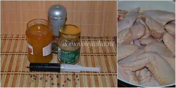 куриные крылышки в соевом соусе запеченные в духовке