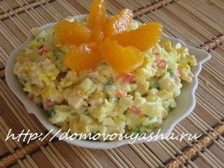 салат крабовый пошаговый рецепт