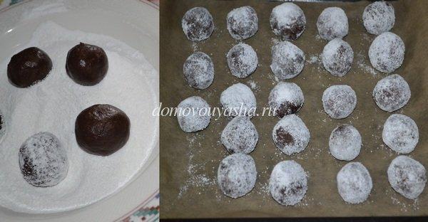 печенье шоколадные трещинки рецепт