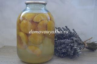 Как приготовить компот из персиков на зиму