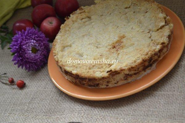 насыпной яблочный пирог рецепт с фото