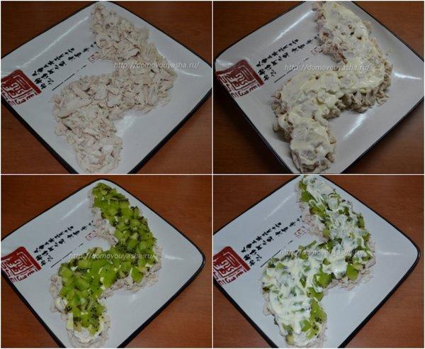 Салат с киви и курицей рецепт с фото