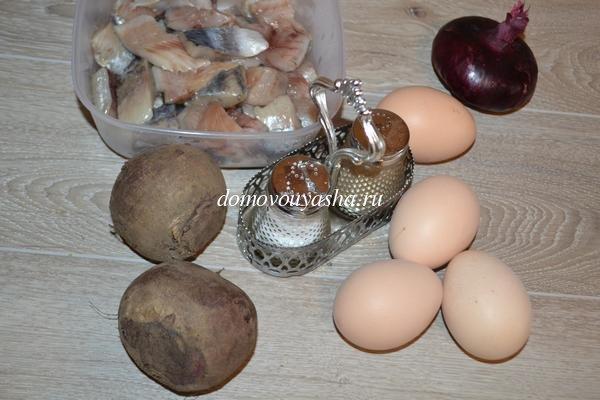Ленивая селедка под шубой в яйцах рецепт с фото
