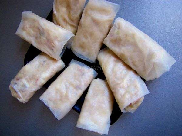 Рисовые блинчики с начинкой