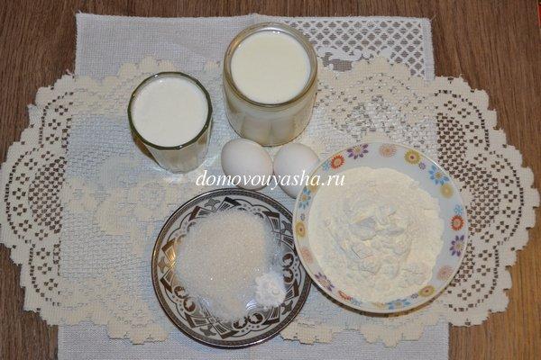 Ажурные блины на кефире и молоке рецепт