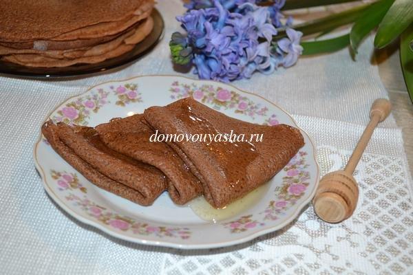 Как сделать шоколадные блины