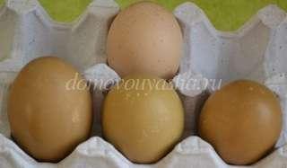 Яйца отваренные с красной свеклой