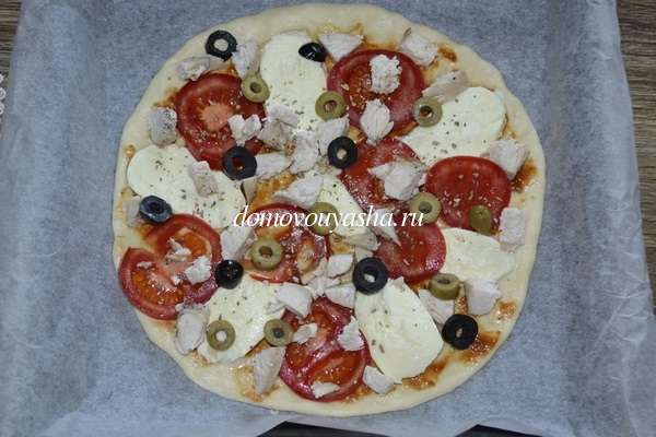 Как приготовить пиццу с курицей