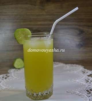 Огуречный лимонад с лаймом
