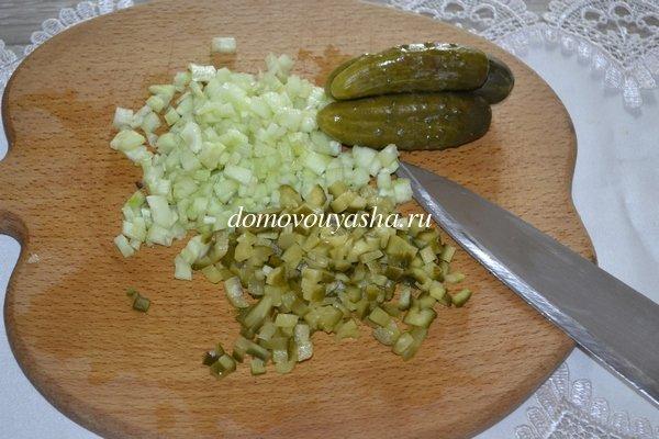 Оливье с кукурузой