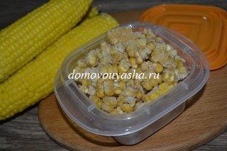 Как заморозить вареную кукурузу на зиму