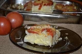 Запеканка из цветной капусты с яйцом
