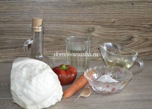 Капуста быстрого приготовления с уксусом и маслом