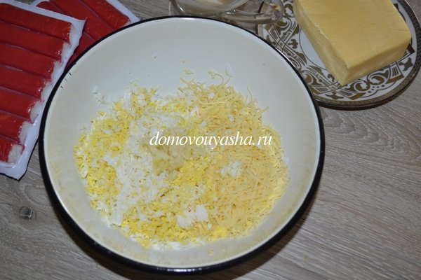 Закуска рафаэлло из крабовых палочек рецепт