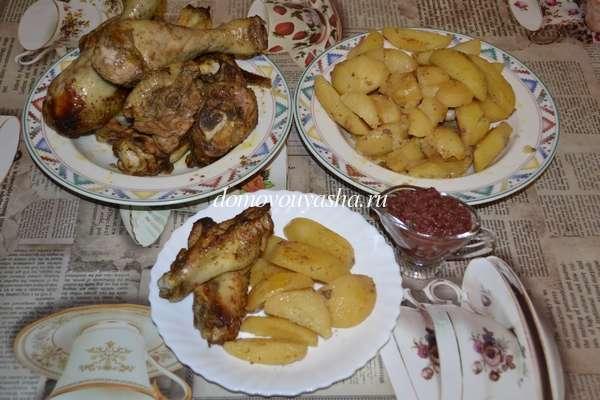 Как приготовить домашнюю курицу кусочками в духовке