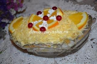 Салат дипломат с апельсином рецепт с фото