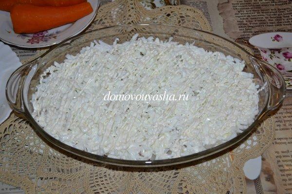 Салат мимоза с рисом рецепт с фото