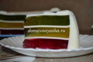 Желейный торт слоями рецепт с фото