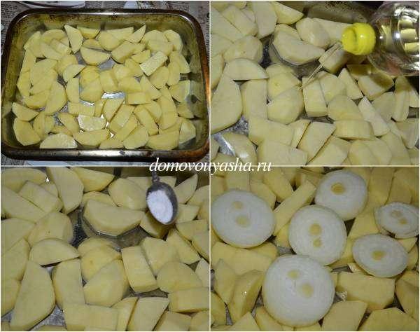 Маринованная домашняя курица в духовке с картошкой рецепт